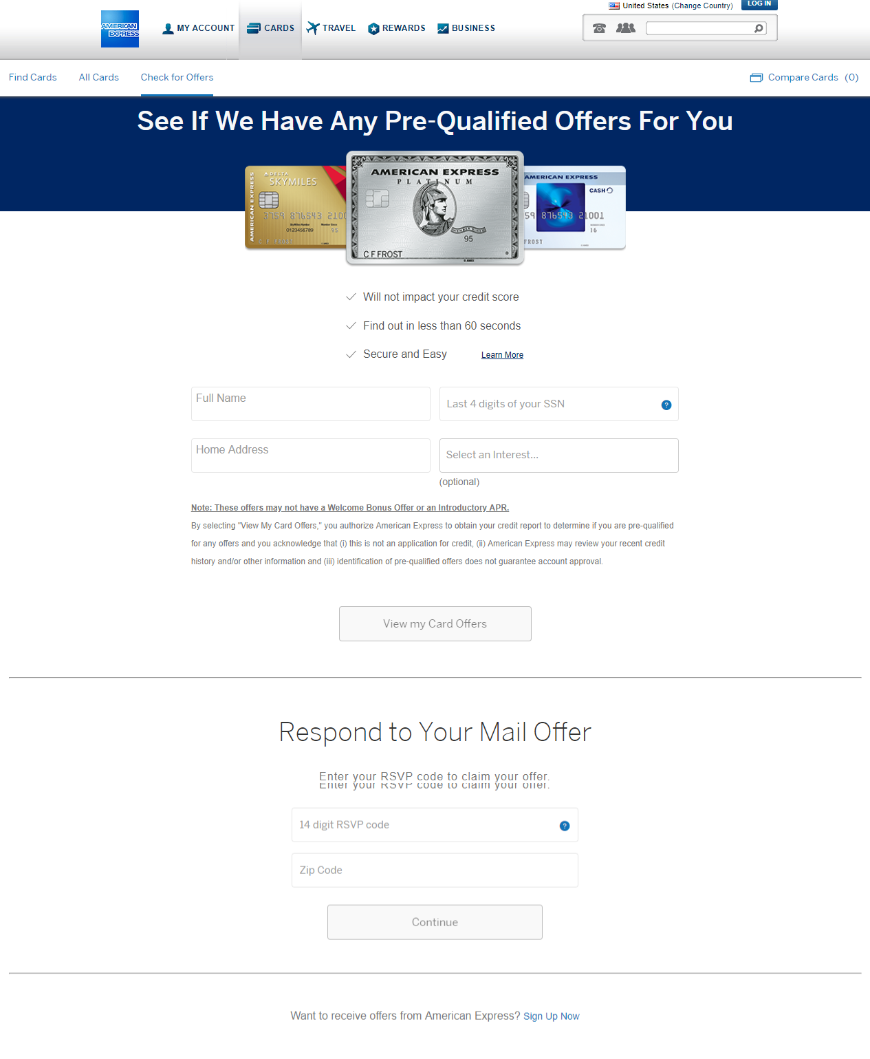 American Express Credit Card Offers