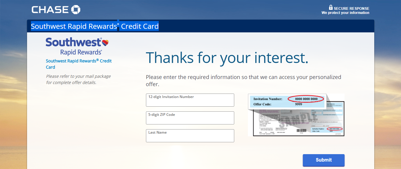 Apply for Southwest Rapid Rewards Credit Card