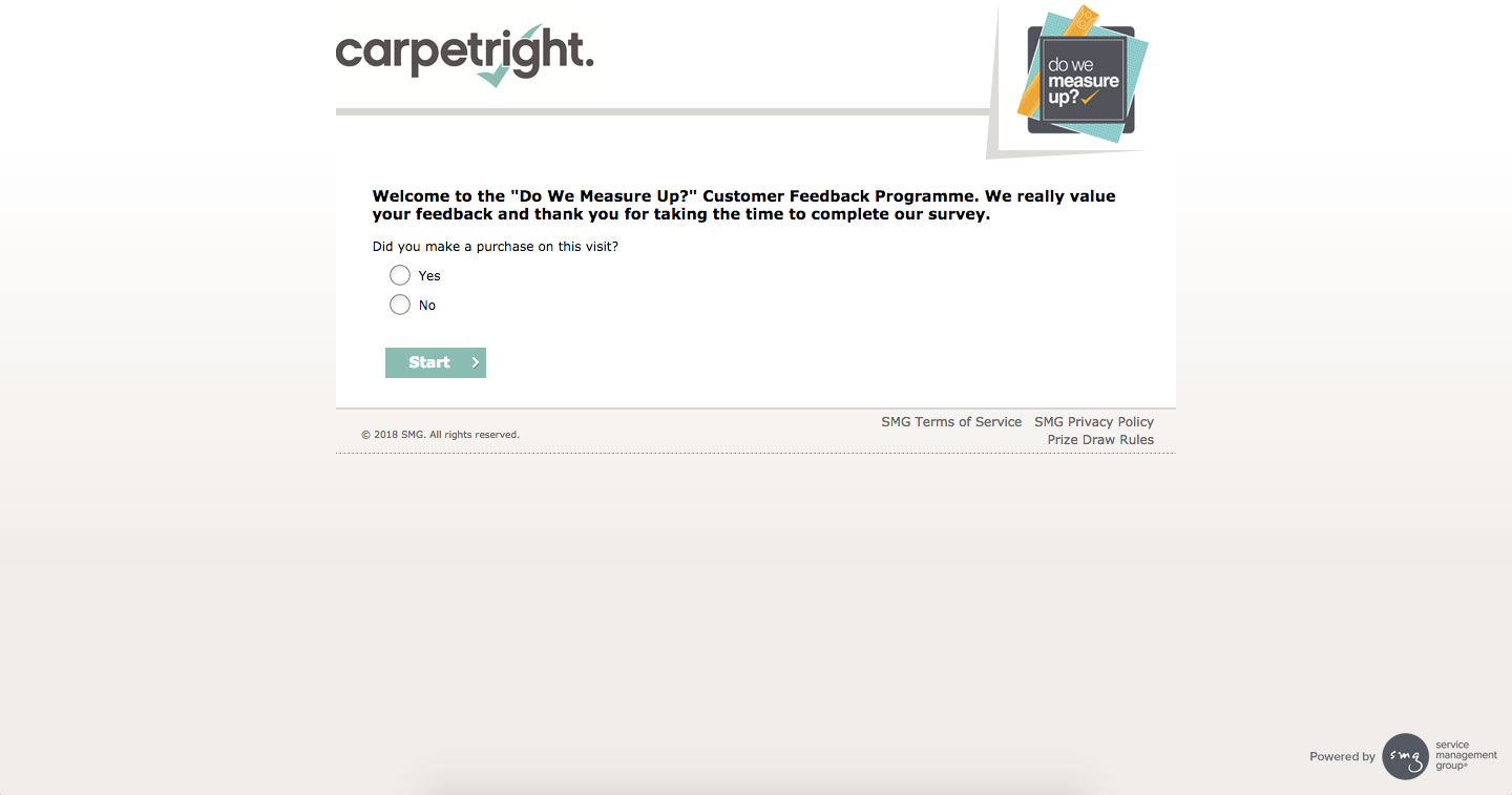 Carpet Right Customer Satisfaction Survey