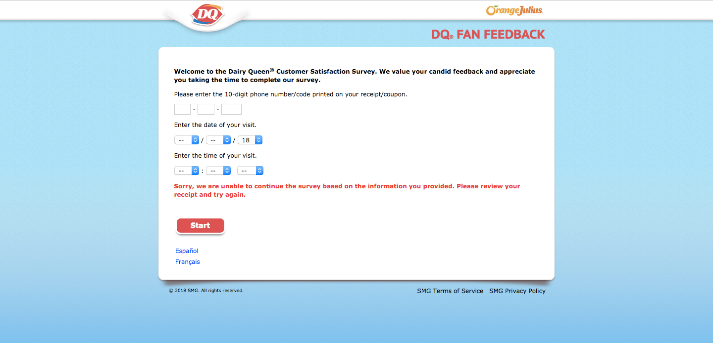 Dairy Queen Customer Survey