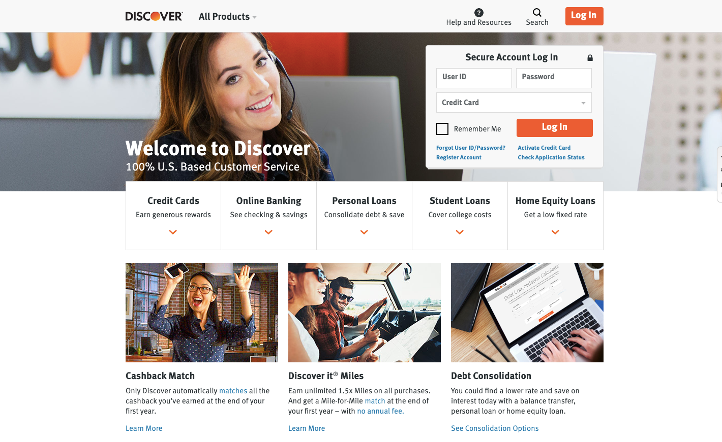 Discover Card Services