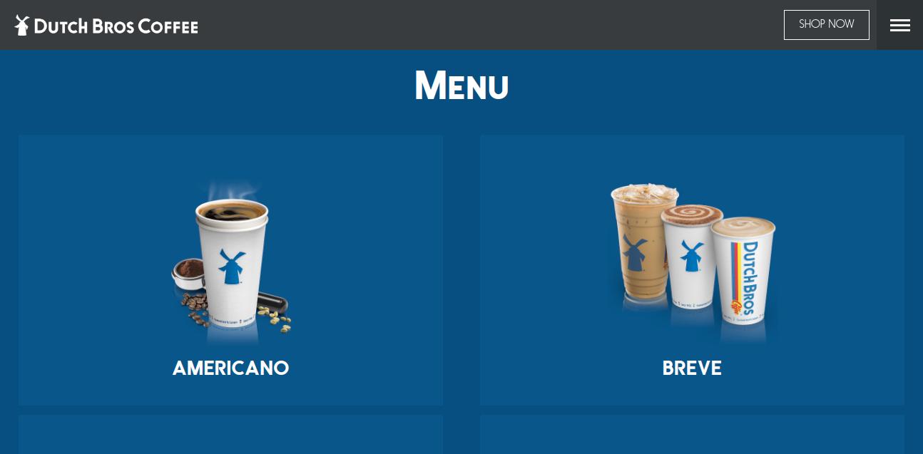 Dutch Bros Coffee Menu Prices