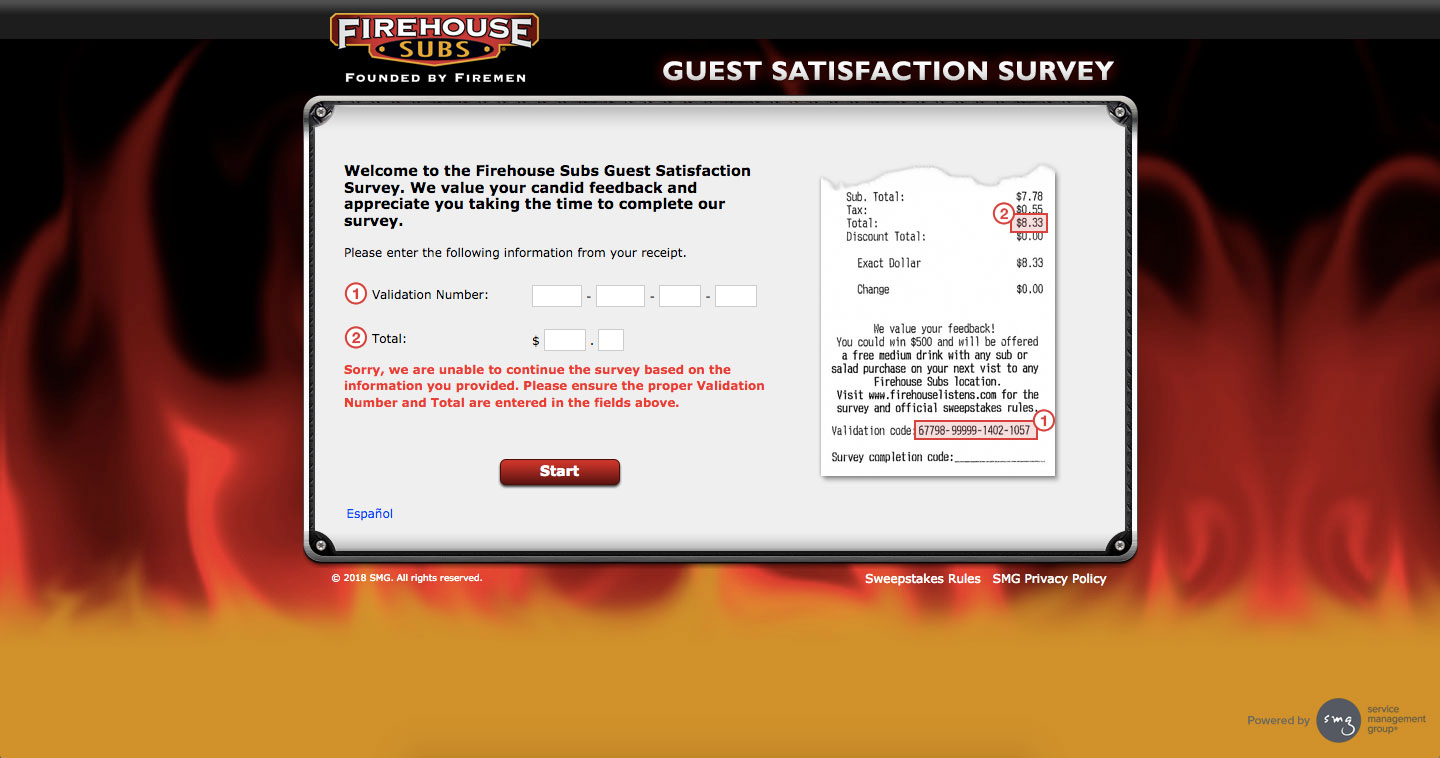 Firehouse Subs Customer Survey