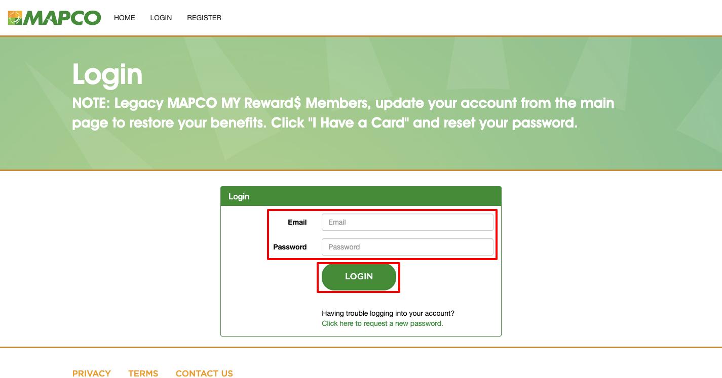 MAPCO Rewards card Login