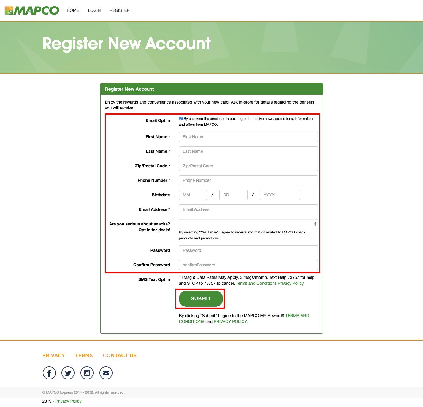 mapco register