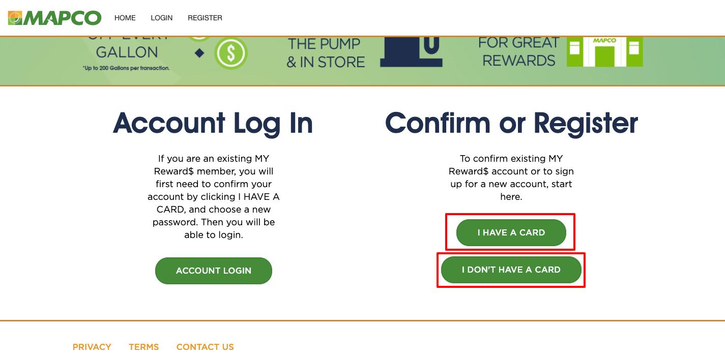 mapco rewards registration