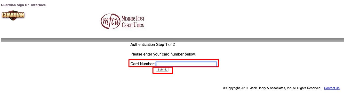 MFCU Visa Card Alert