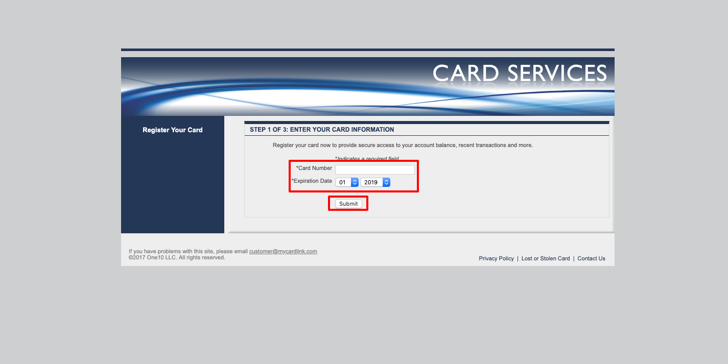 My Card Link Online Activation