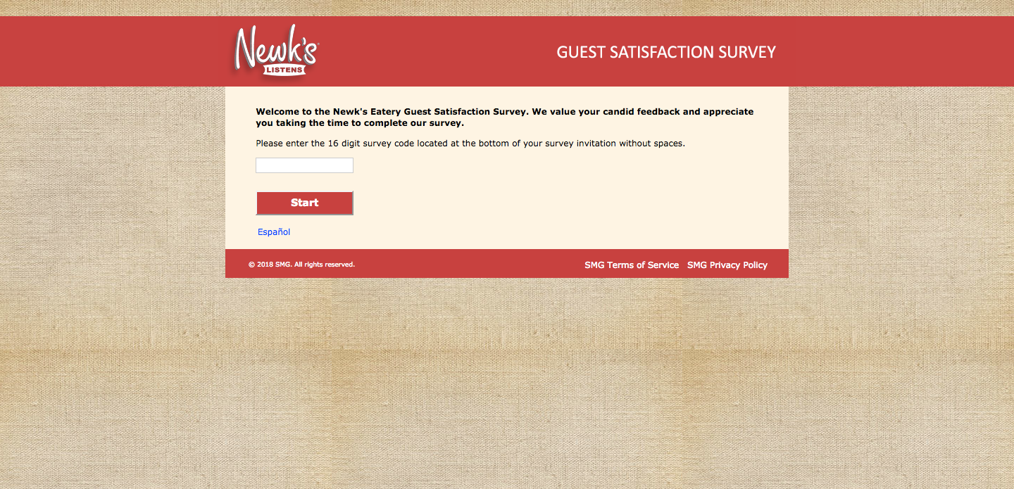 Newk's Eatery Customer Survey