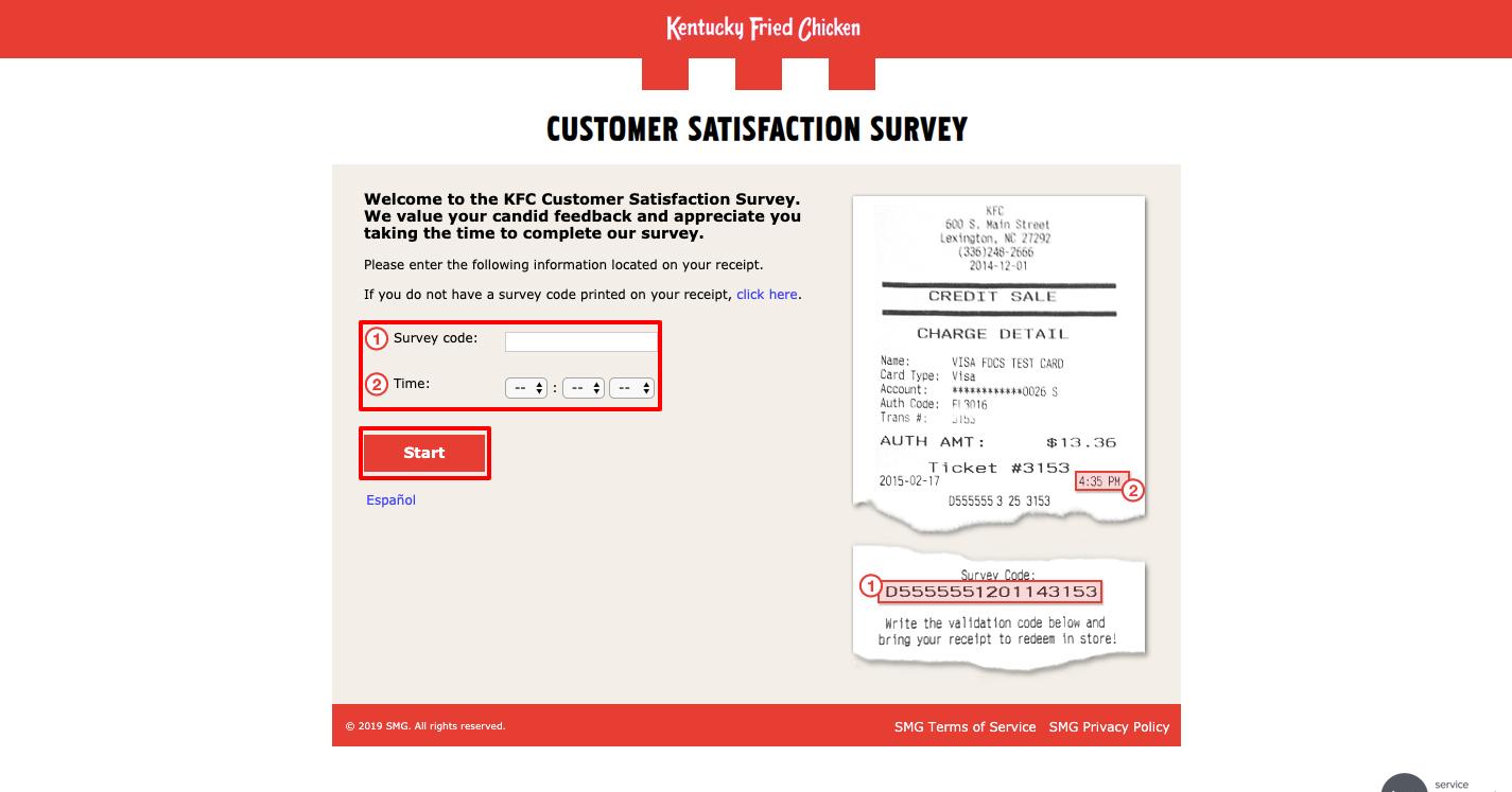 Take part in KFC survey