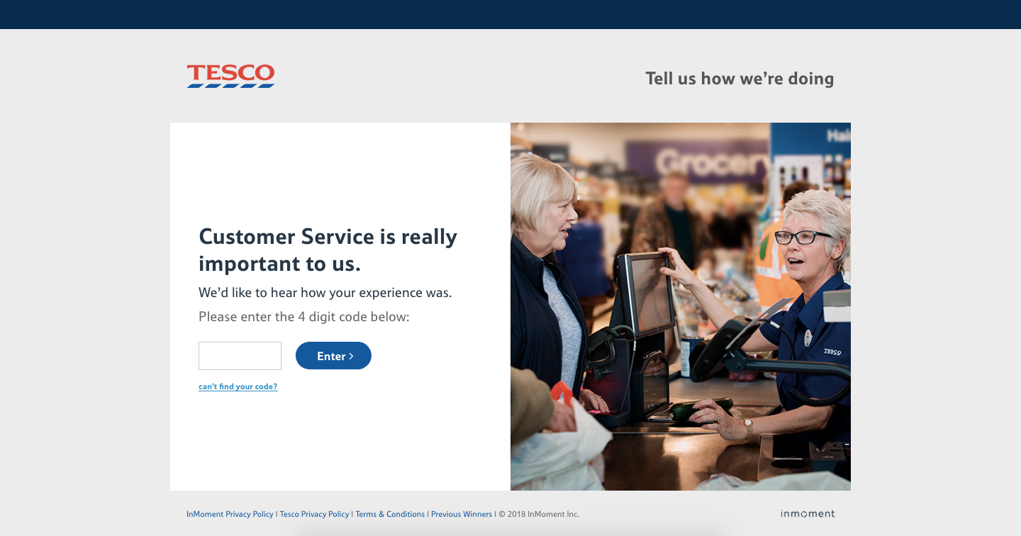 Tesco Customer Service survey