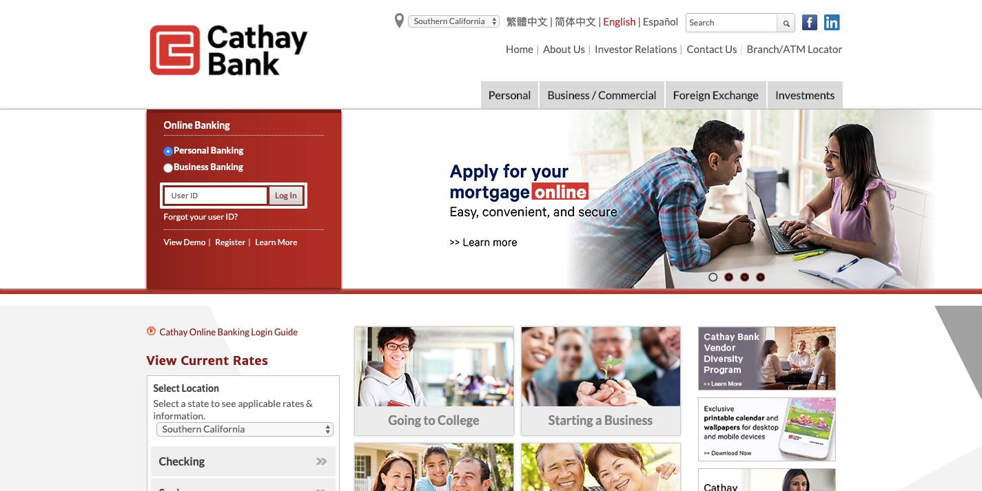 cathay bank login