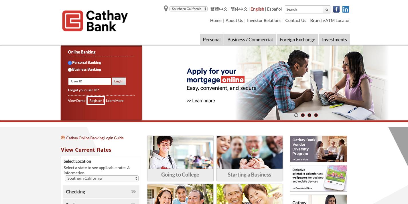 cathay bank registration