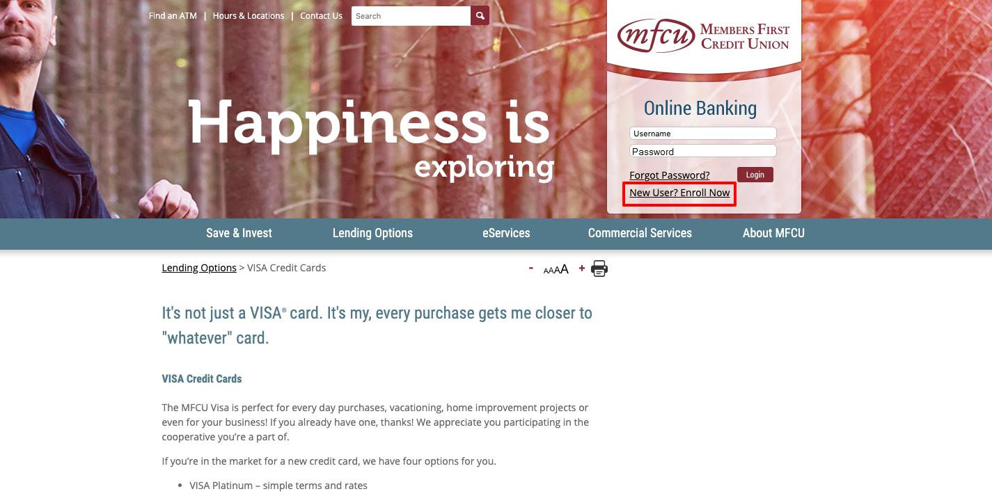 mfcu visa card enrollment