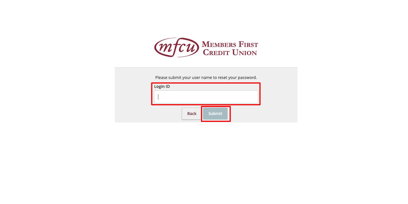 mfcu visa card forgot password