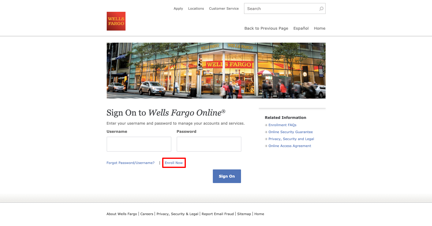wells fargo online account opening