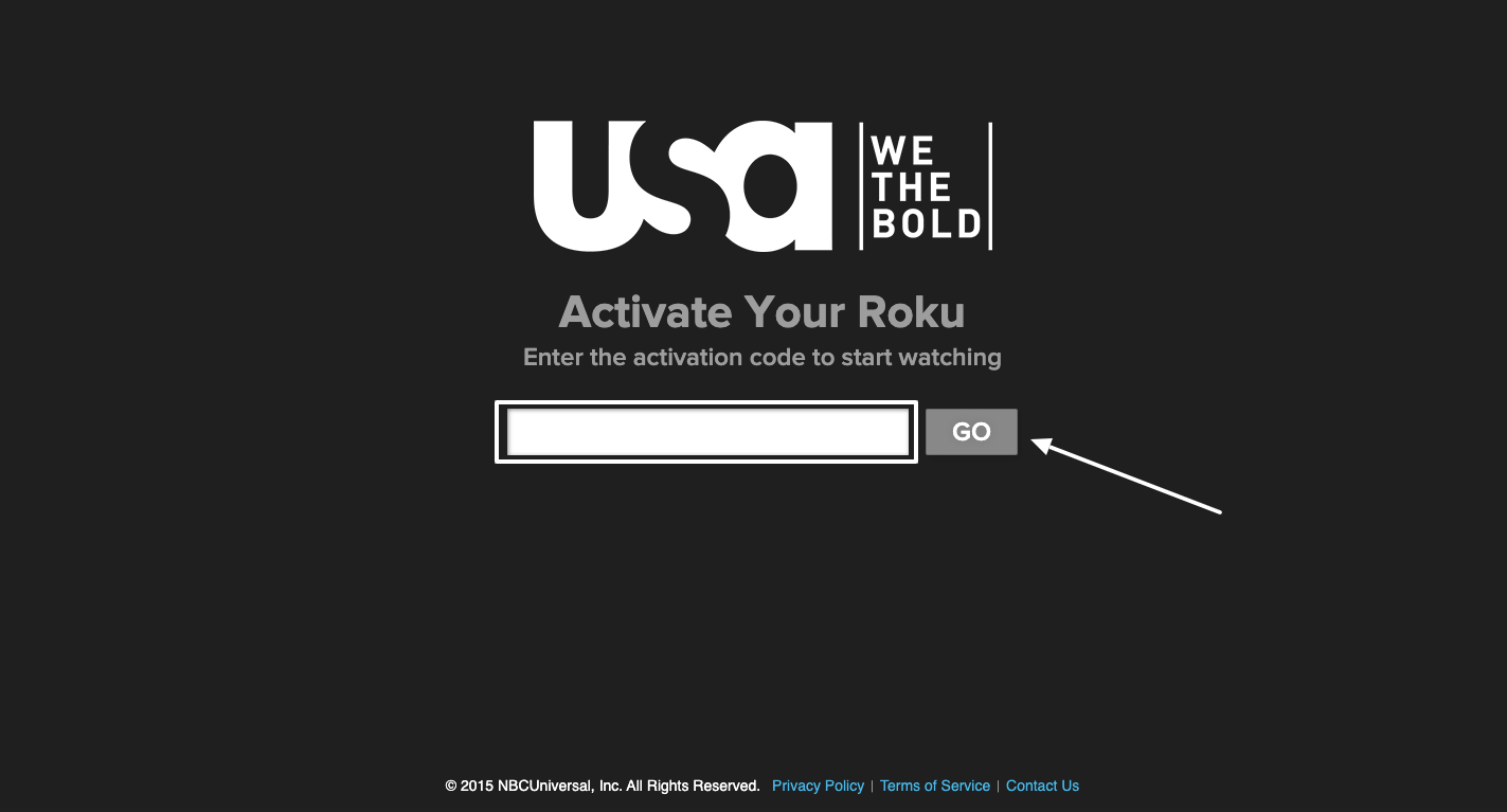 Activation of USA Now Roku Device