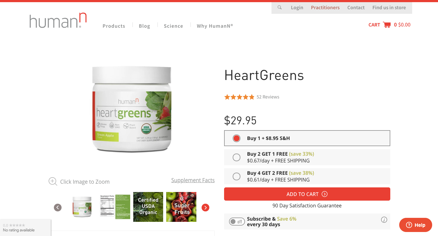 HumanN heartgreens