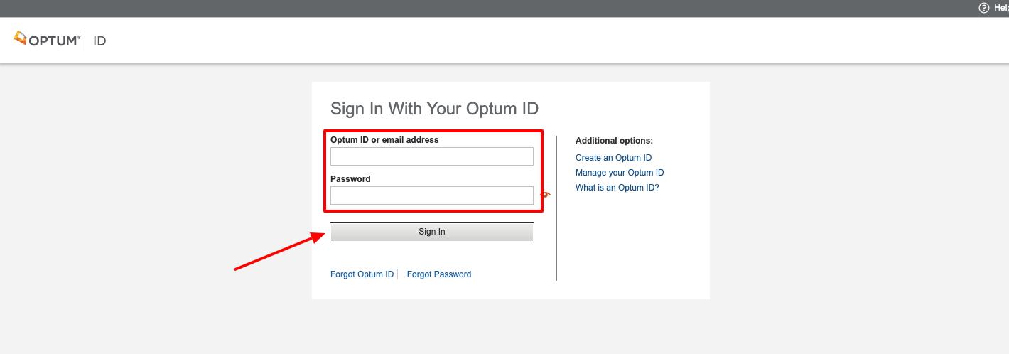 optum financial provider login