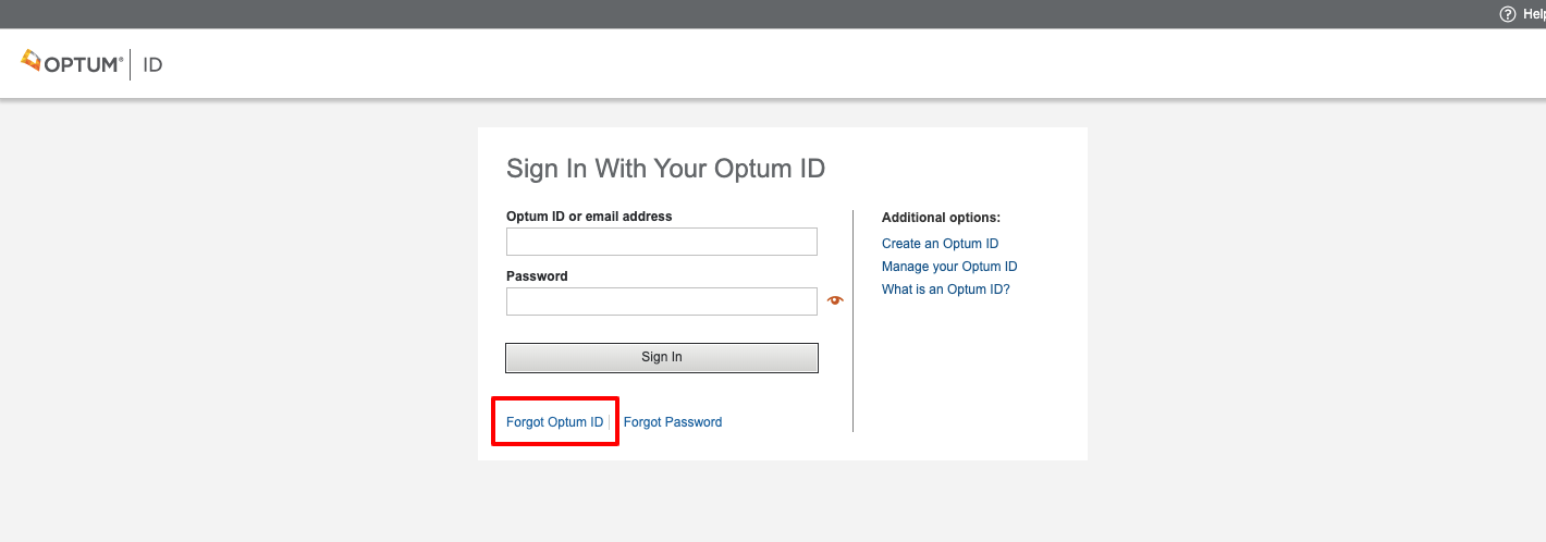 optum id sign in