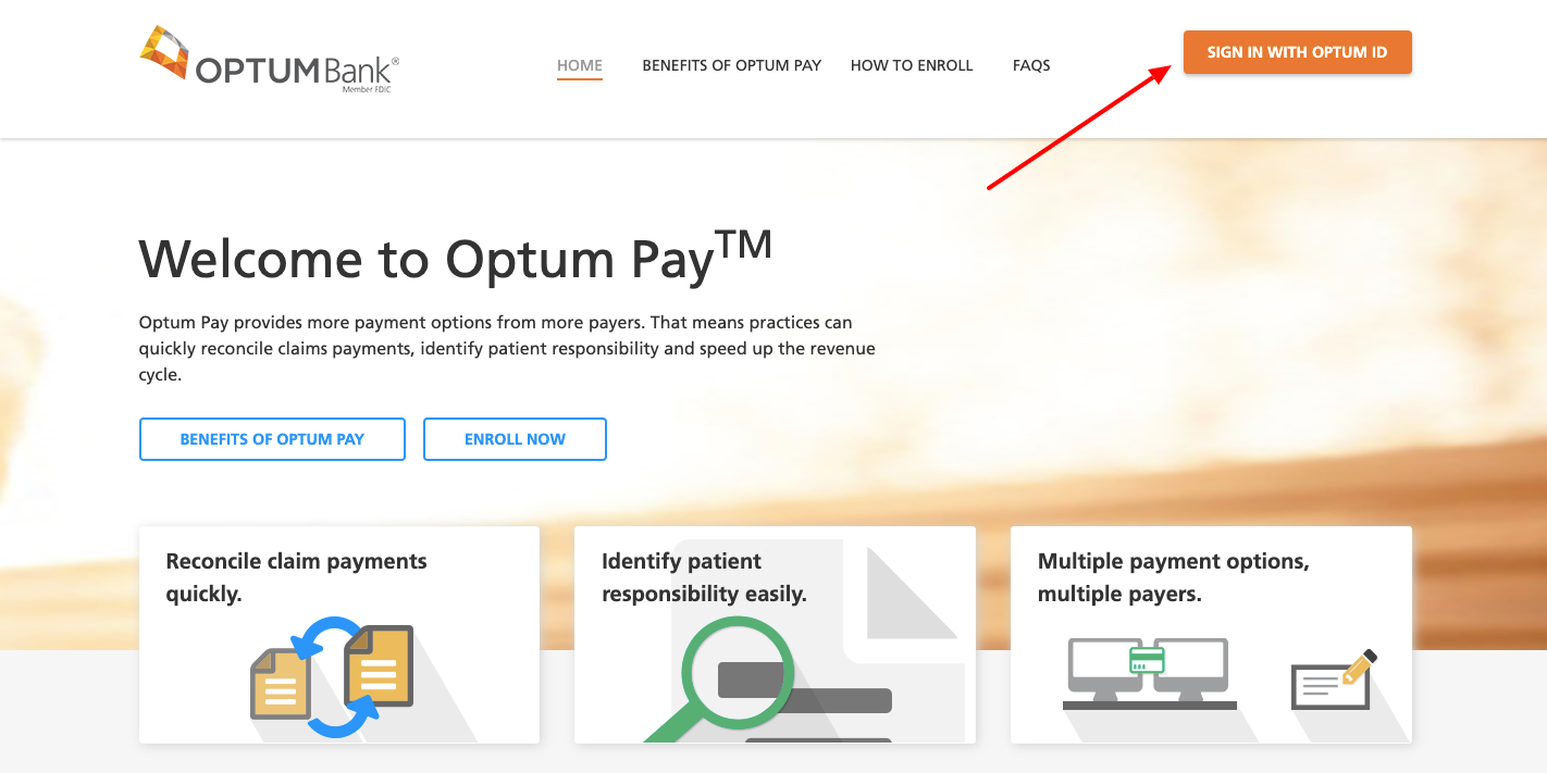 optumhealth payment services login