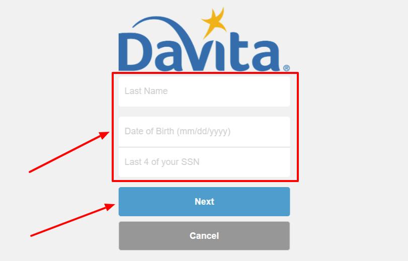 DaVita Forgot Username