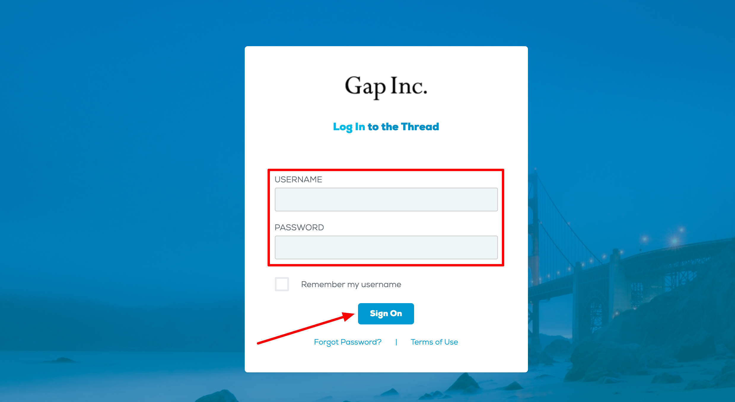 Gap Inc Portal Login