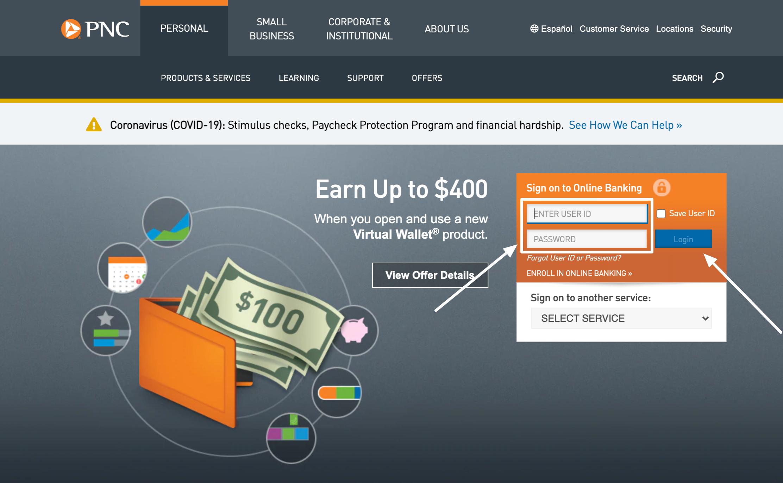 PNC Personal Banking Login