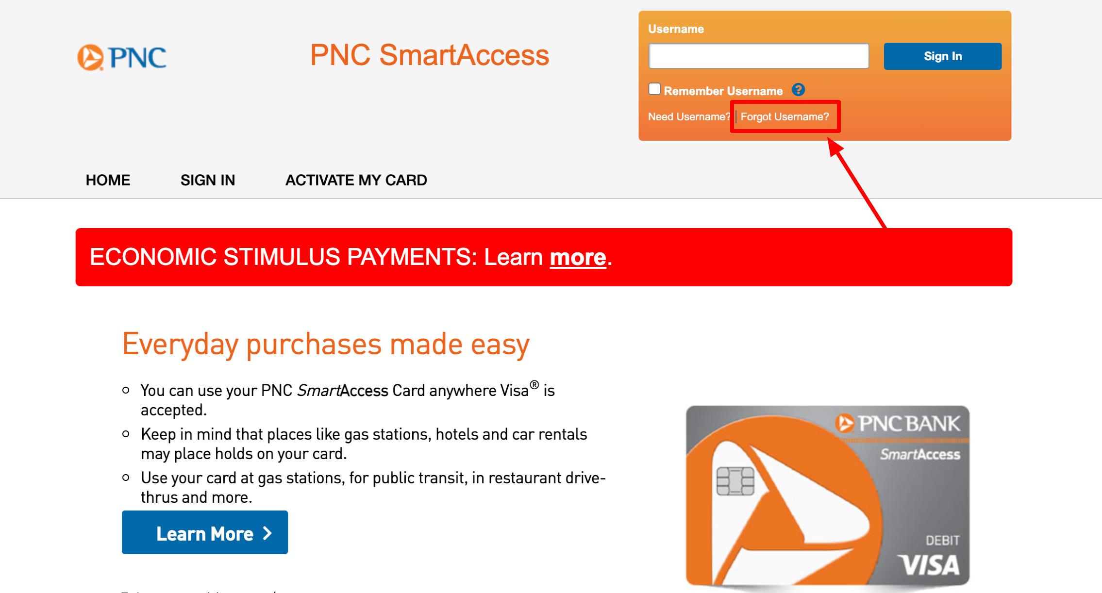 PNC Smart Access Login