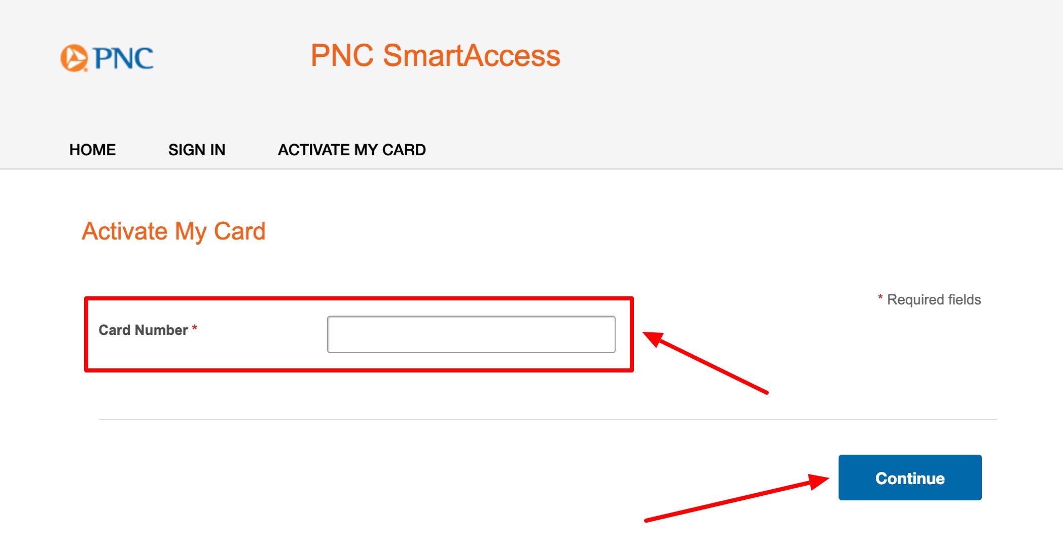 PNC SmartAccess Activate My Card