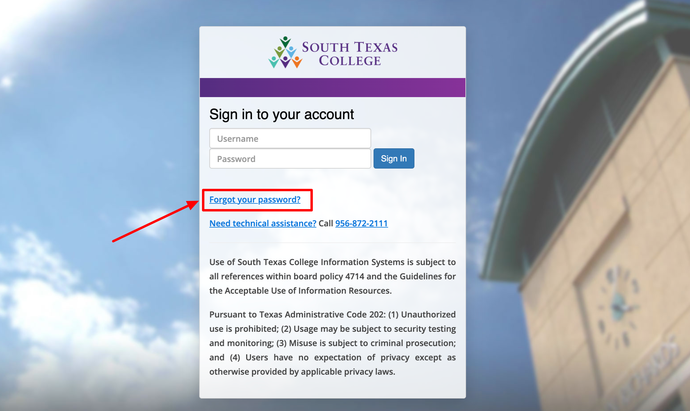 South Texas College Single Sign on