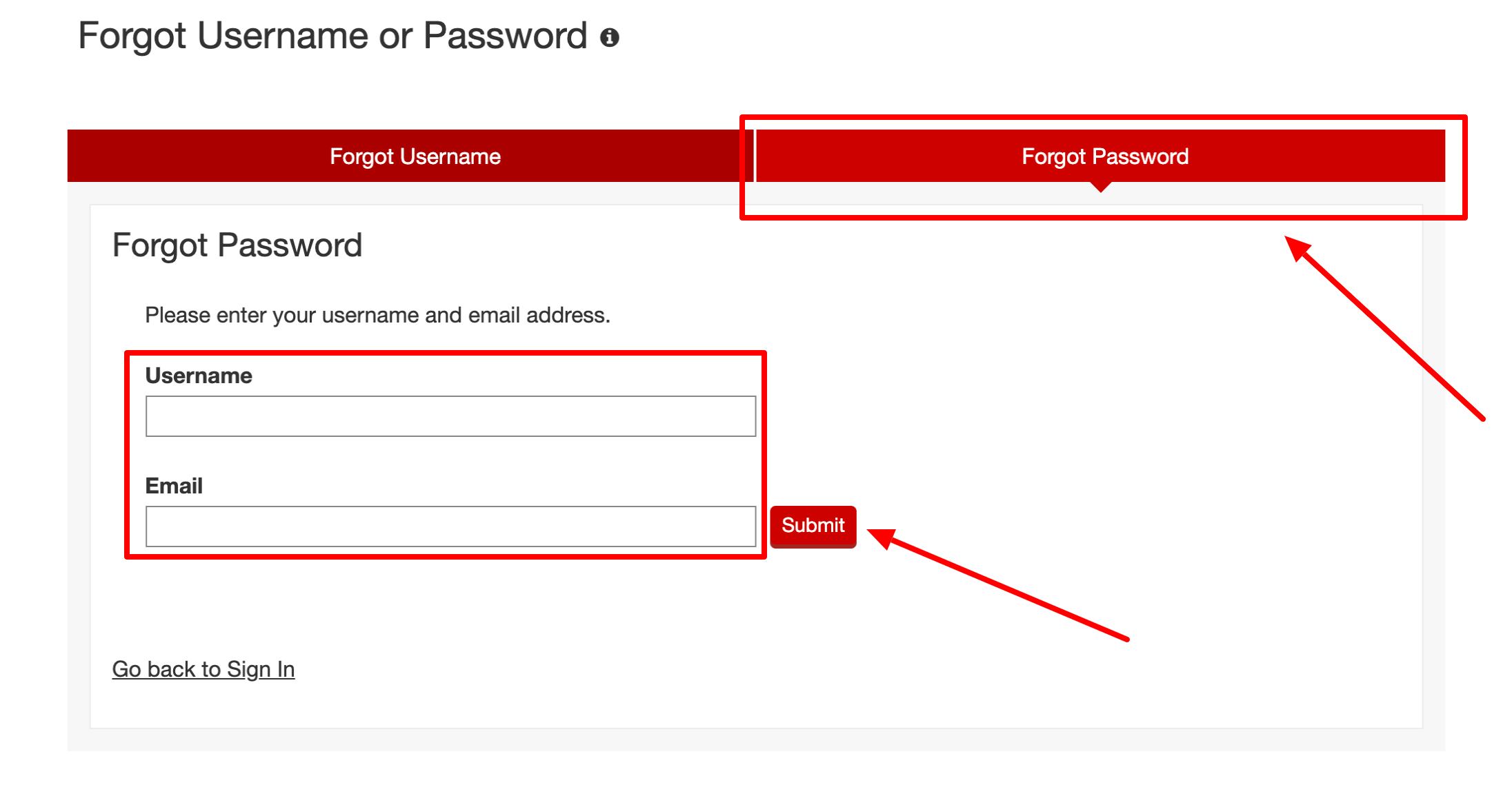 Target Redcard forget password