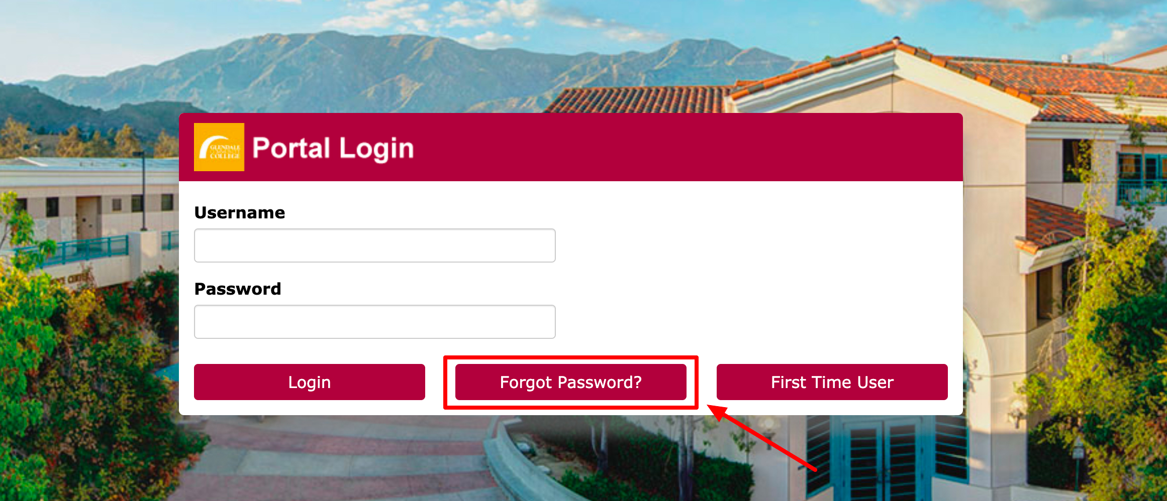 gcc student portal login