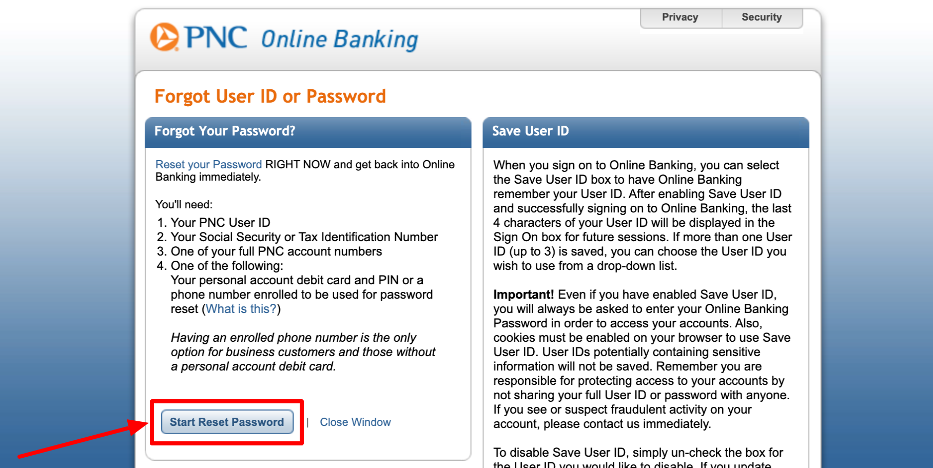 pnc online banking sign in