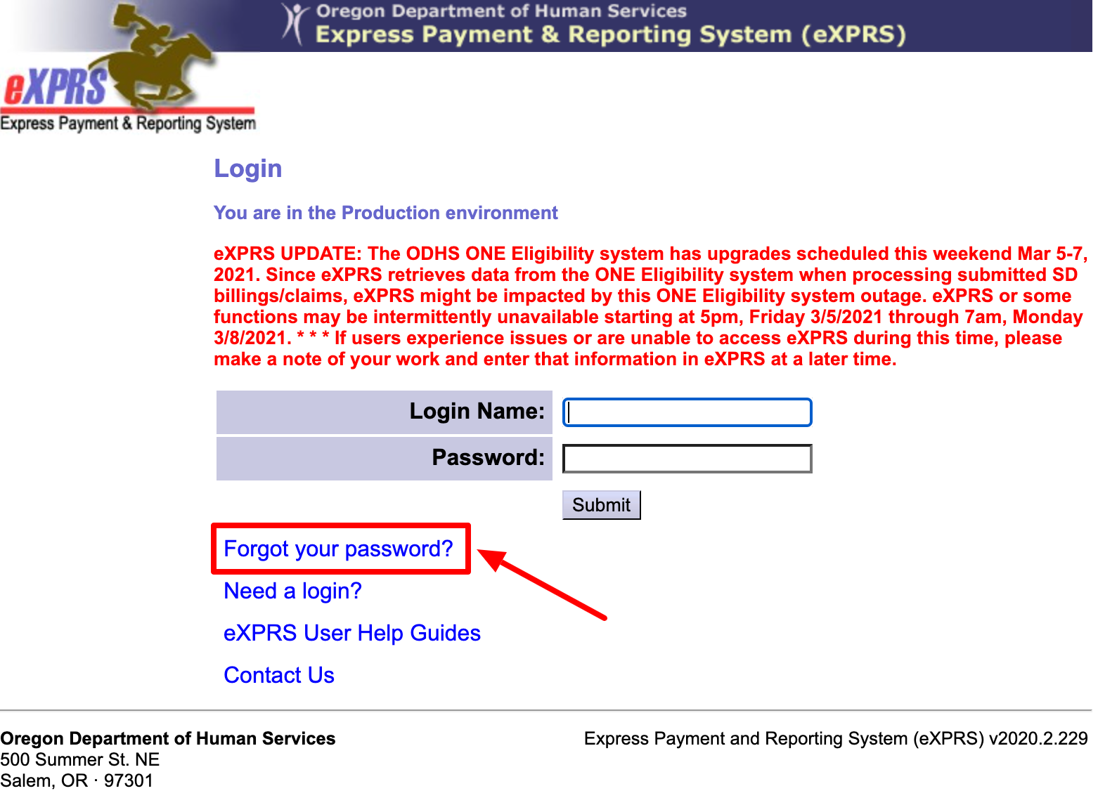 Retrieve EVV Login
